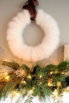 I could use an old fashion mink jacket and cut it in strips and wrap around a wreath frame.  I have one in feathers I purchased from MICHAELS (on sale).  I like the simplicity of the plain wreath.  It doesn't need anything but an elegant ribbon to hang it up.