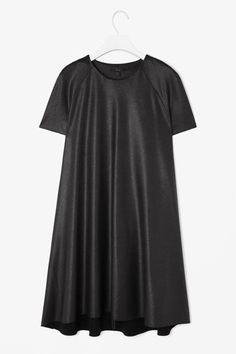 metallic black dress from COS