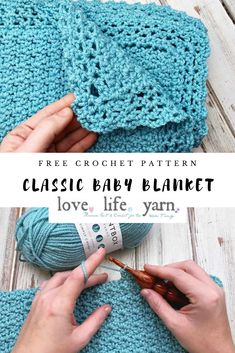 Crochet blanket patterns free 7107311900467791 - This baby blanket is super simple and easy, yet so perfect! This free crochet pattern is great for a beginner project! Free Baby Blanket Patterns, Crochet Baby Blanket Free Pattern, Easy Crochet Blanket, Quick Crochet, Free Crochet, Crocheted Baby Blankets, Kids Crochet, Crochet For Beginners, C2c