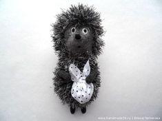 Вязаная игрушка «Ёжик в тумане»