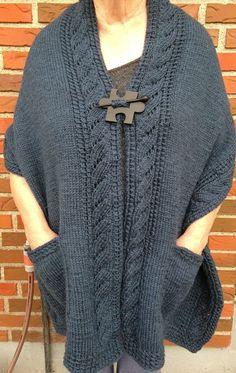 Free Knitting Pattern for Reading Wrap