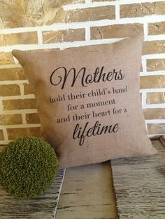 Mother's Day  Burlap Pillow by SimplyFrenchMarket on Etsy, $40.00
