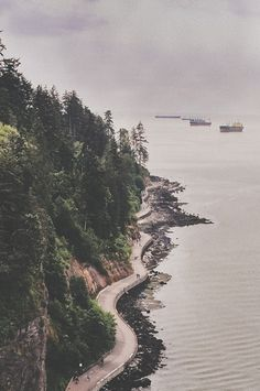 Road by the sea / Vancouver, BC