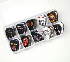 DIY Vintage Guitar Picks 98 pcs Led Zeppelin, U2, ACDC, GNR, Bonus Jovi and more! #vintageguitars