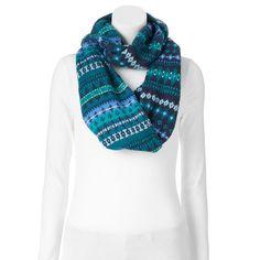 SO® Fairisle Knit Infinity Scarf,