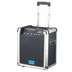 Diffusore amplificato 100W con ingressi Mp3/SD  Ottimo strumento di diffusione sonora. Trasportabile e sempre pronto all'uso in ogni condizione grazie alla possibilità di operare anche a batteria. Il pannello di comando permette il collegamento di 2 microfoni e di un segnale di linea. Una presa d'uscita permette di collegarlo a registratori esterni. E' in grado di leggere brani Mp3/wma da schede SD o chiavette USB.