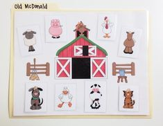 {{FREEBIE}} Old MacDonald File Folder Song! Great for speech and language development.