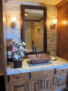 mica bay traditional bathroom countertops - Granite Bathroom Designs