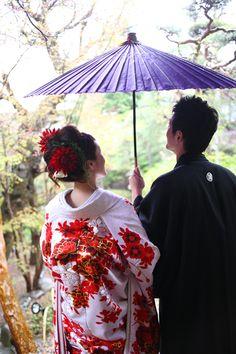 和装 wedding. You can feel the love <3