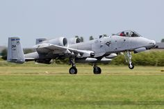 """Pair of A-10 Thunderbolt IIs belonging to 355th Fighter Wing, normally based on US Air Force Base  Davis Monthan, Arizona, near Tucson and """"giant graveyard"""" of the US Air Force managed by the  309th Aerospace Maintenance and Regeneration Group. Displaying 6 & 7, June 2015, at air base 705 Tours, France, which was celebrating its 100th anniversary."""