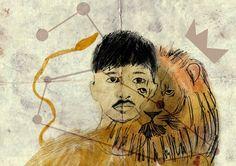 #illustration #boy #leo #surealism #art #draw Surealism Art, Leo, Draw, Illustration, Painting, Lion, To Draw, Illustrations, Painting Art