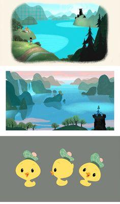Artes do curta The Ballad of Nessie, da Disney Brother Bear, Tarzan, Disney Love, Disney Art, Storyboard, Bg Design, Disney Kunst, Disney Concept Art, Great Backgrounds