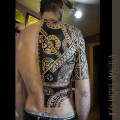 Polynesian style half back piece.