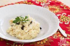 Receita de risoto de bacalhau com azeitonas - www.re-comendo.com