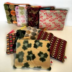 #oneofakind zipper pouches, hot off the presses! #handmade #littlegeneraldesign #upcycled