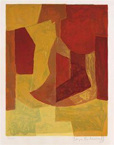Serge Poliakoff, Composition in orange, 1966