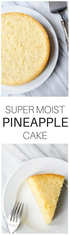 This Pineapple Cake Recipe needs no frosting (though it's amazing with freshly whipped cream). It's soft, eggy and delicate.