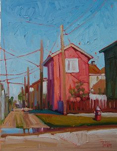 """""""Dr. K's Alley"""" by Rene' Wiley Gallery Oil ~ 18 x 14"""