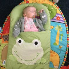 Little Amber Rose loves her frog nap mat! The cute little princess is 8 weeks old, and has been in love with her nap mat from day 1. Nonna is delighted! Thanks to mum Sarah for sharing this photo with us. :-)