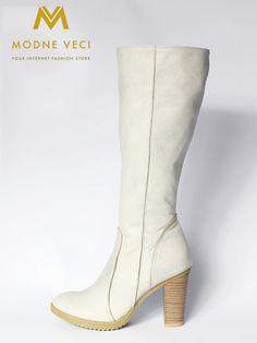 damske cizmy violeta 08 bezove prava koza Knee Boots, Heeled Boots, Ankle, Heels, Fashion, High Heel Boots, Heel, Moda, Heel Boots