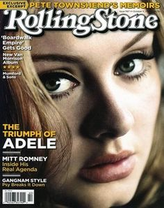 """The biggest selling artist of this decade, Adele, will cover rock magazine Rolling Stone's special """"Women Who Rock"""" issue. The cover surfaced online earlier this week with the singer's face front and center. She is also set to release the latest 'James Bond' theme. Read the full story here: http://www.examiner.com/article/adele-covers-rolling-stone-magazine-set-to-release-james-bond-theme"""