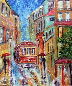 Original oil painting San Francisco California by Karensfineart