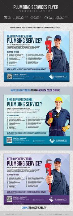 Plumbing Service Flyer - Corporate Flyers