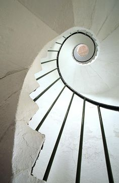 Spiral staircase in lighthouse - Dunmore East, County Waterford, Ireland