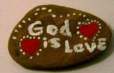 Rock Art/God Is Love by onepamperedprincess on Etsy, $1.95