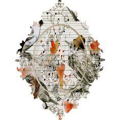 Randi Antonsen Love Birds Wall Clock