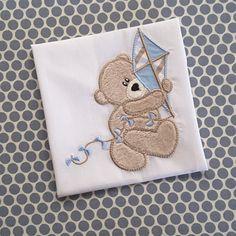 Baby Applique Machine Embroidery Design Kite by BabyEmbroideryShop