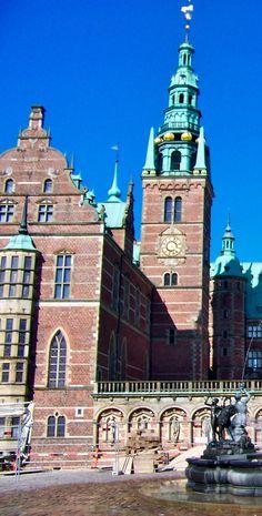 Frederiksborg Castle chapel  wing and belfry tower  Hillerod, Denmark