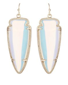 Skylar Earrings in Clear Iridescent - Kendra Scott Jewelry.