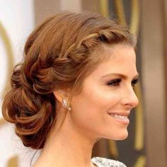 Stylish evening hairstyles: New Year Braided Bun Hairstyles, Loose Hairstyles, Headband Hairstyles, Trendy Hairstyles, Hairstyle Ideas, Evening Hairstyles, Best Wedding Hairstyles, Thin Hair Updo, Finger Wave Hair