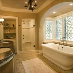 Walk In Shower Design, another way to incorporate shower with small opening. Less $ b/c less tile.