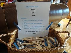 Clothespin Game ..I like the basket and printed rules.