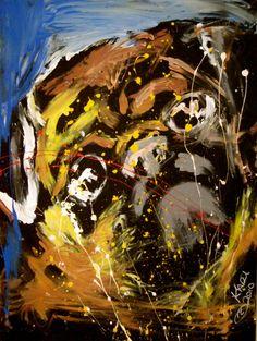 Painting by Karl Jendry Pug Acrylic by KarlJendryStudios on Etsy, $150.00