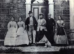 Robert Louis Stevenson in Peebles, Scotland with him mother, father, nanny and two maids.