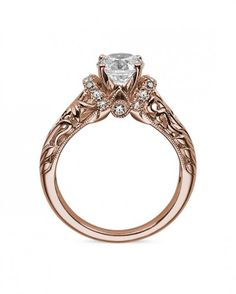 Cortland - 0.65 - 2.15ctw Round Brilliant Moissanite Engagement Ring, 14k White, Yellow or Rose Gold