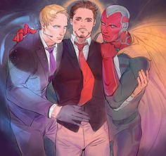 Tony,Jarvis and Vision