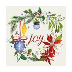 size: Art Print: Watercolor Christmas VI by Harriet Sussman : Kids Watercolor, Wreath Watercolor, Watercolor Cards, Watercolor Journal, Watercolor Painting, Painted Christmas Cards, Watercolor Christmas Cards, Christmas Crafts, Vintage Christmas Cards