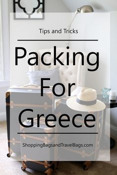 Packing for Greece - Travel: www.shoppingbagsandtravelbags.com/2016/05/vacation-ready.html