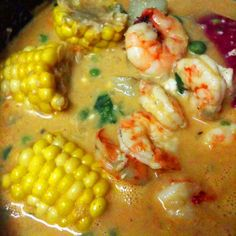 Chupe is the Peruvian national dish, and may be made of any and everything, so long as it holds its relationship to soup. Shrimp is my favorite seafood, so in it goes =) Thick & hearty; perfect for cold weather! - Chupe de Camarones (Peruvian Shrimp Chowder)