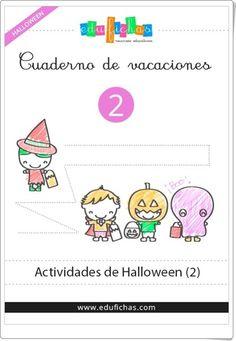 """""""Cuadernillo de Halloween 2 para Educación Infantil"""" (Edufichas.com) Halloween Activities, Comics, Words, Children, Monsters, Diy, Home, Halloween Costumes For Kids, Halloween Games"""