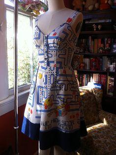 Pac Man Pin Up Dress by BongaChopShop