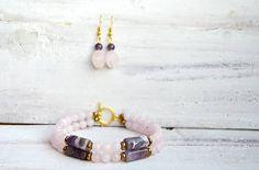 Mrs_Leyla / Sada šperkov z minerálov - Náramok a Náušnice Earrings, Jewelry, Fashion, Ear Rings, Moda, Stud Earrings, Jewlery, Jewerly, Fashion Styles