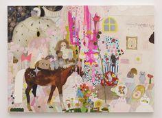 長井朋子の作品には、森や部屋の背景に、猫や馬などのたくさんの動物たちや、幼い少女、色とりどりの木やキノコなどが、まるで劇場のように配置されています。様々なモチーフが散りばめられた作品はどれも、世界が凝縮したような充足感と独特の空間性をもっています。長井は下描きをせず�...