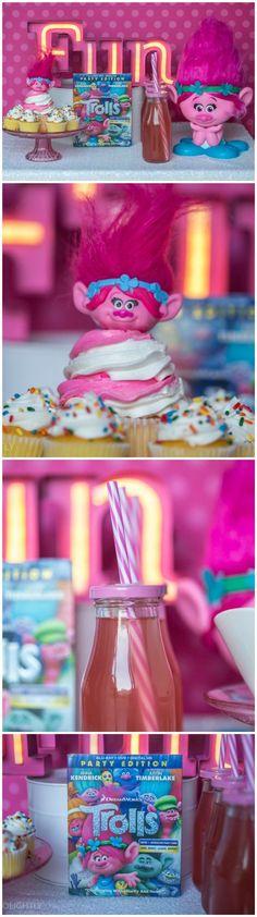 DreamWorks Trolls Party Edition - Princess Poppy Inspired DIY Headbands with Party Plan and recipes #TrollsFHEInsiders