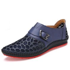 039a65c03 Merkmak Men Shoes Casual Genuine Leather Shoes Mens Luxury Brand Summer  Leisure Breathing Flats For Men