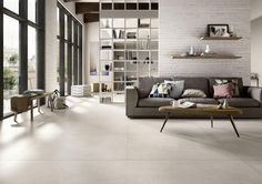 Looking for ideas for your living room tiles? View the best Marazzi solutions. Discover all tiles suitable for your living room and other areas. Living Room Flooring, Living Room Paint, Living Room Grey, Home Living Room, Living Room Decor Colors, Belle Villa, Room Tiles, Floor Design, Bedrooms